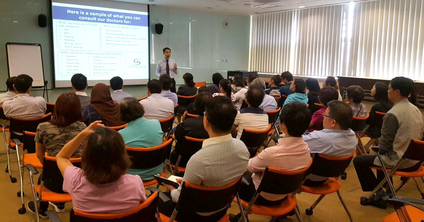 Educational Talk On Eye Care By Dr Lee Sao Bing